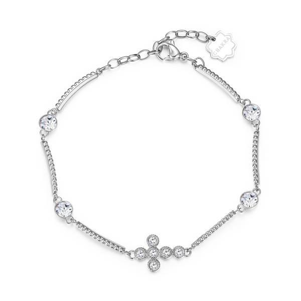 Brosway - Bracciale CHAKRA in acciaio con croce e cristalli crystal