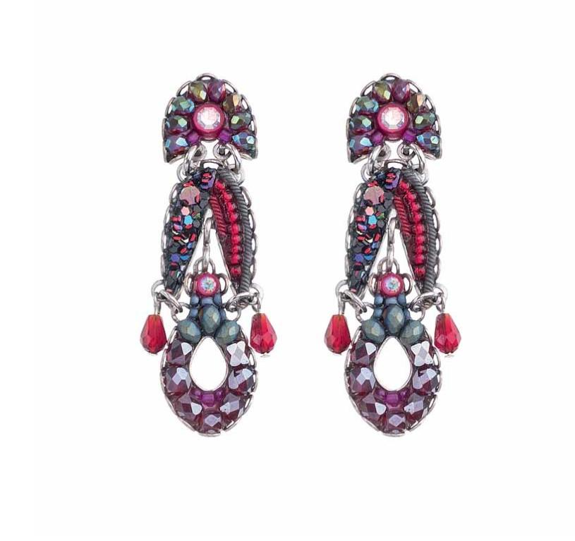 Crimson Flame Earrings