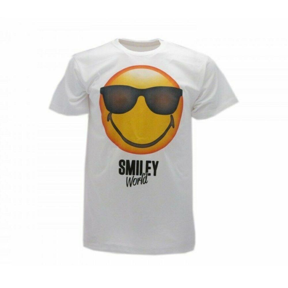 Maglietta taglia M Smiley World  manica corta faccina occhiali