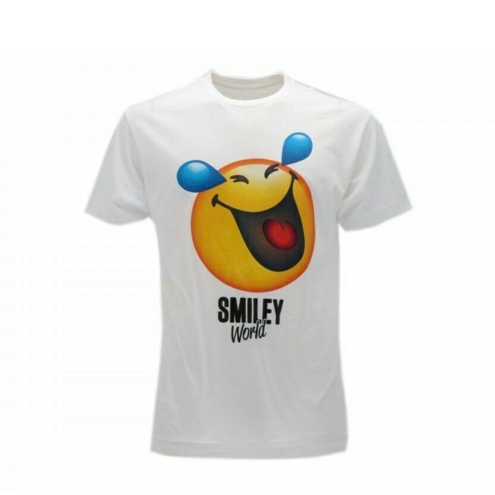 Maglietta taglia M Smiley World  manica corta faccina lacrime