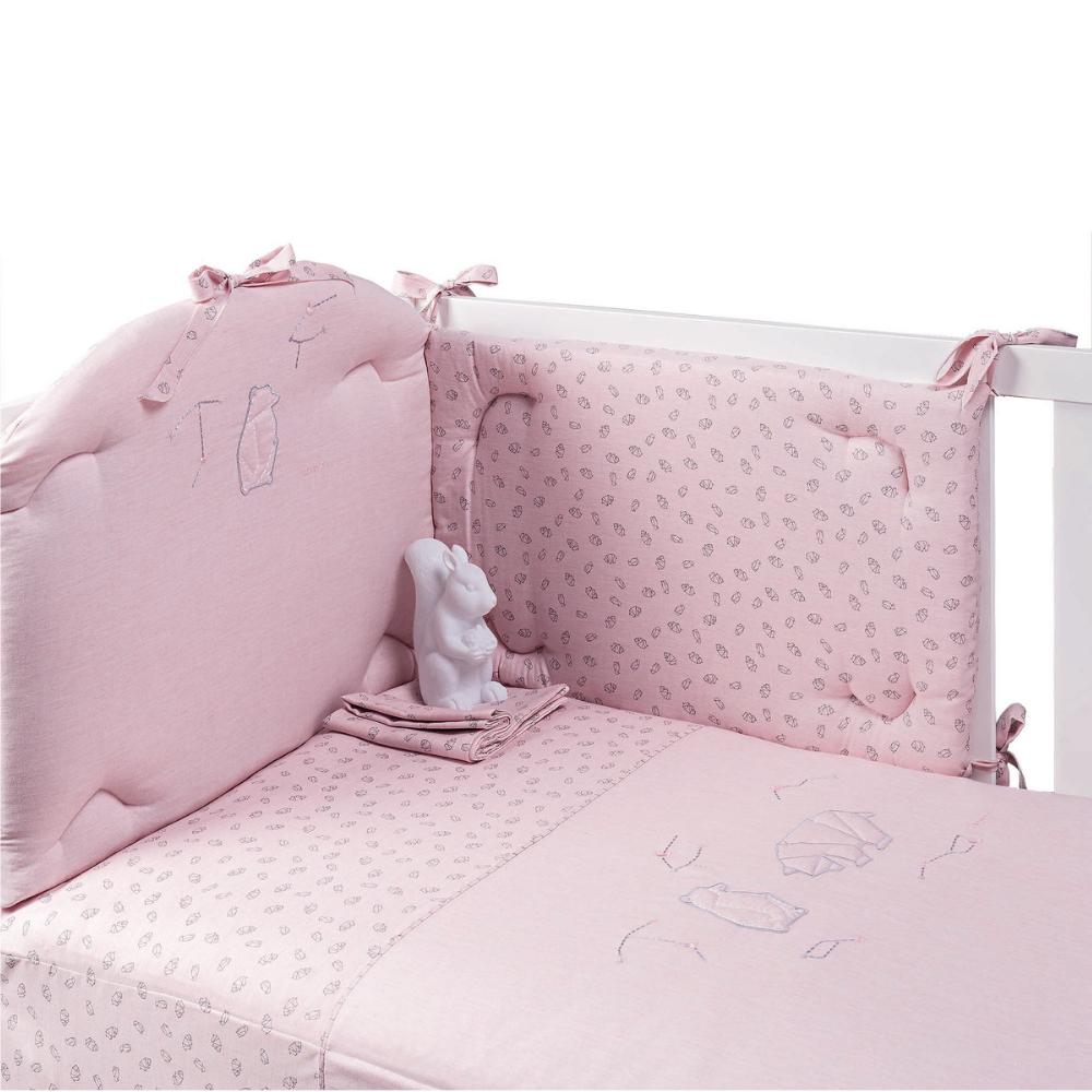Set Paracolpi e Piumetto collezione Astrid by Picci | Rosa | Orso  Pinguino