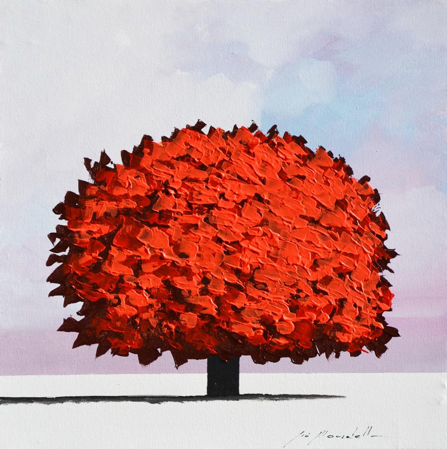 Mondelli Giò Albero Rosso Tecnica mista Formato cm 30x30