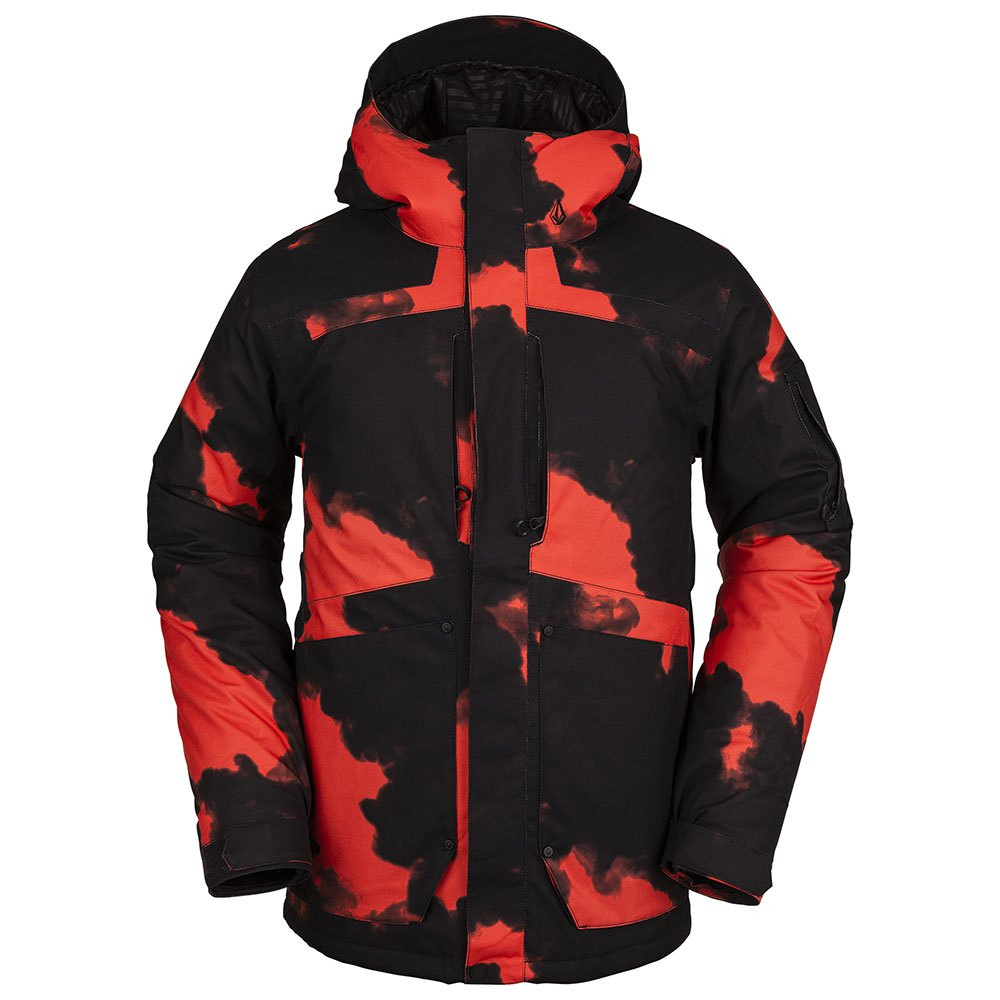 Giacca Snowboard Volcom Scortch Insulated Black Red