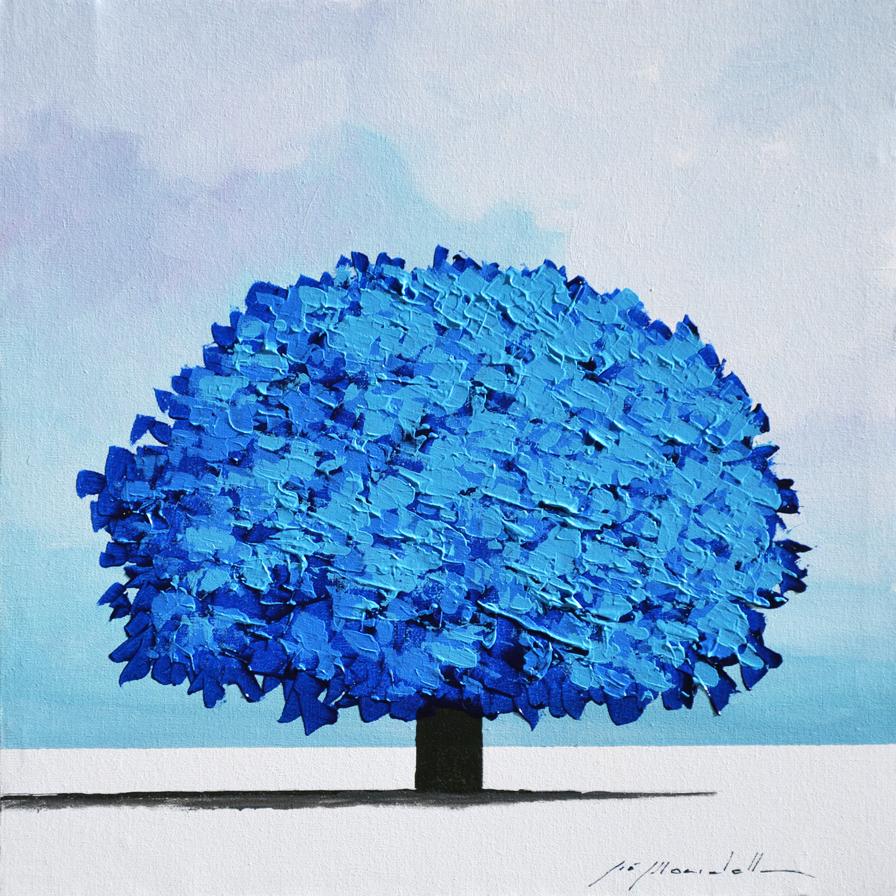 Mondelli Giò Albero Blu Tecnica mista Formato cm 30x30