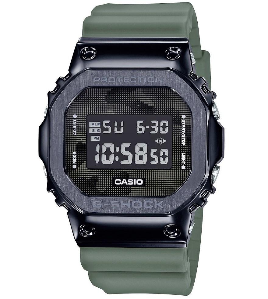 Casio G-Shock orologio digitale multifunzione, cassa acciaio nero e resina, cinturino verde