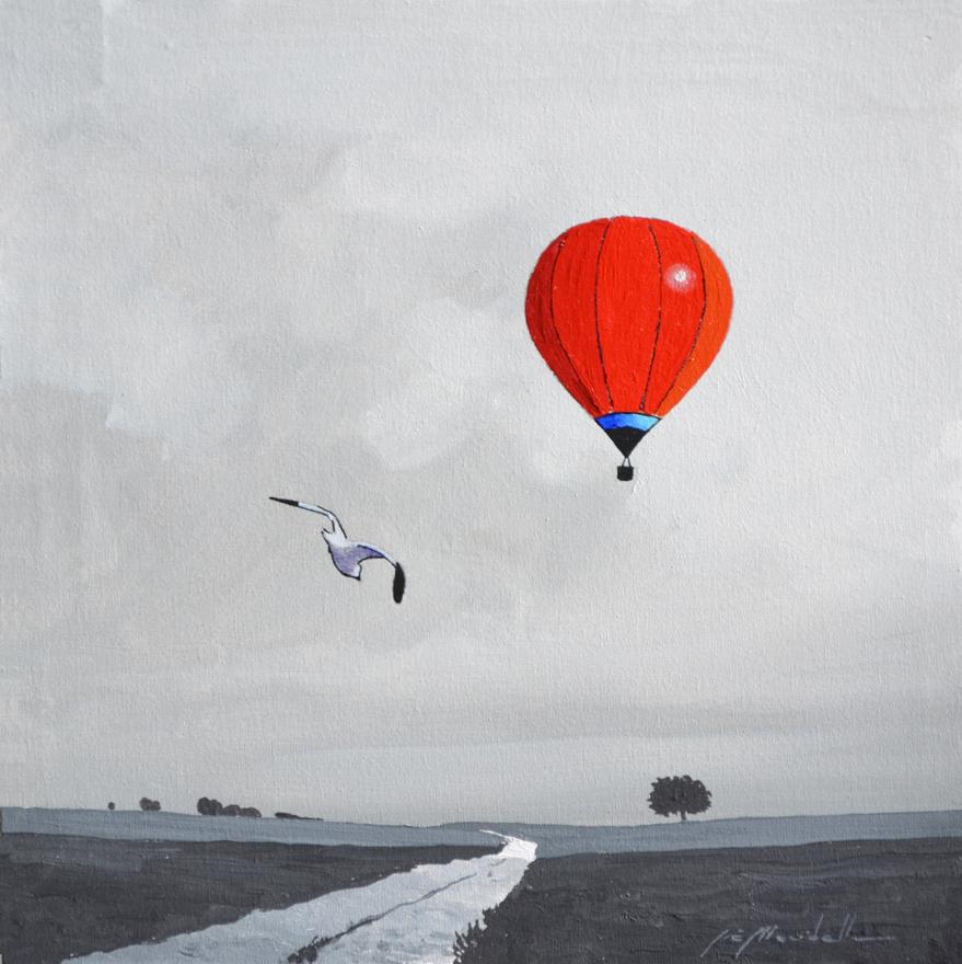 Mondelli Giò Emozioni in volo Tecnica mista Formato cm 30x30