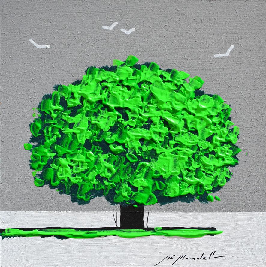 Mondelli Giò Albero Verde Tecnica mista Formato cm 15x15