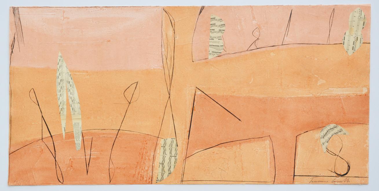 Cascella Tommaso, Architetto di deserti, Incisione, Formato cm 60x120