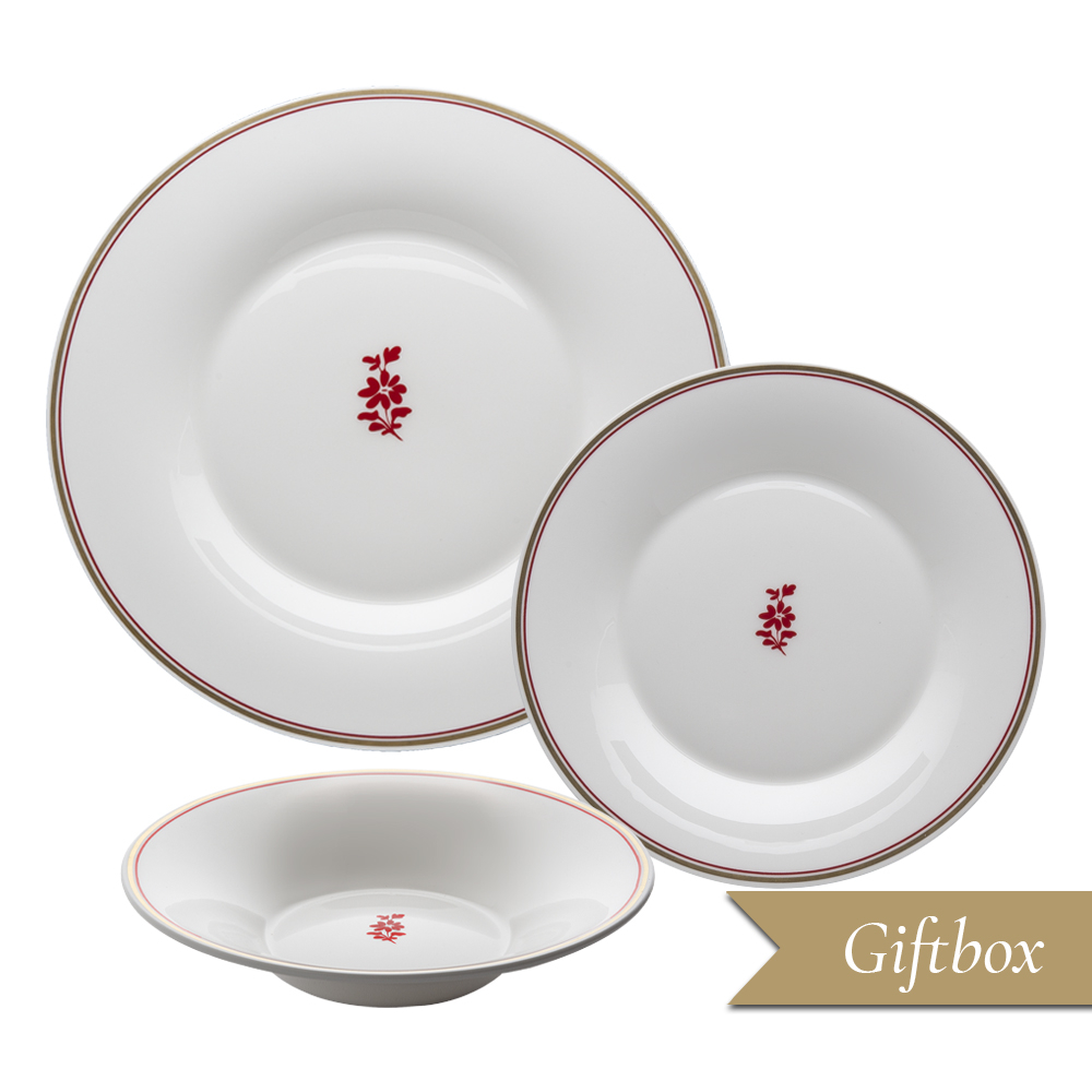 Set 3 pezzi in Giftbox | Feston e Cadena Rosso