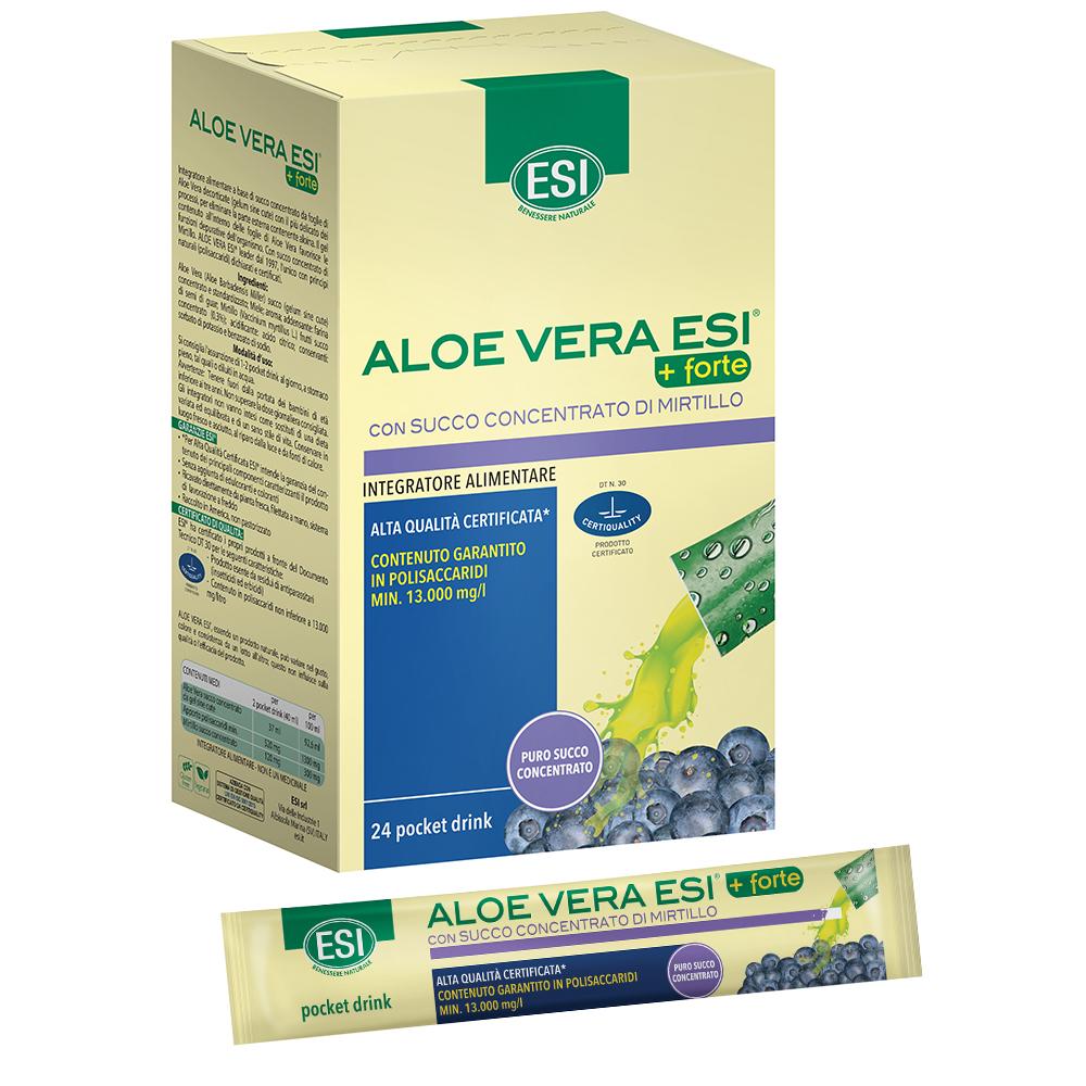 Aloe vera succo forte + mirtillo 24 pocket drink