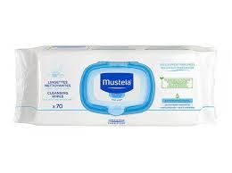 Mustela salviettine detergenti 70 pz