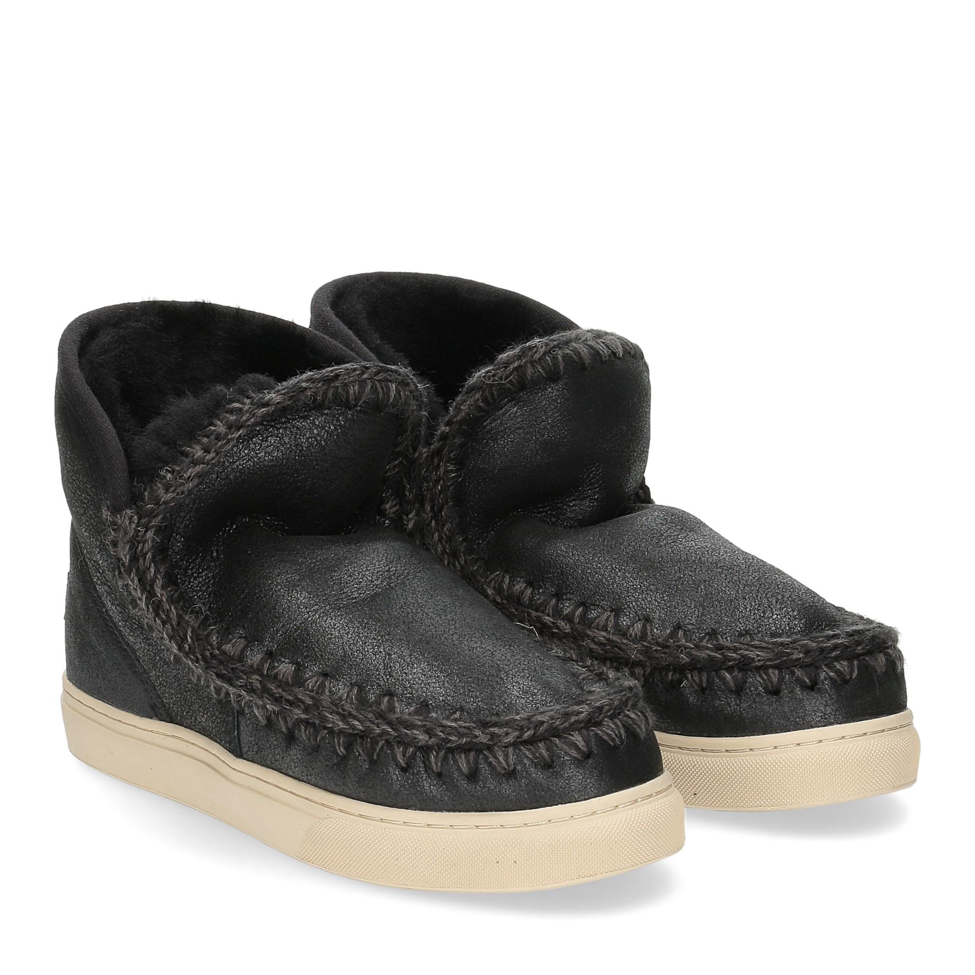 Mou Eskimo sneaker cracked black grey