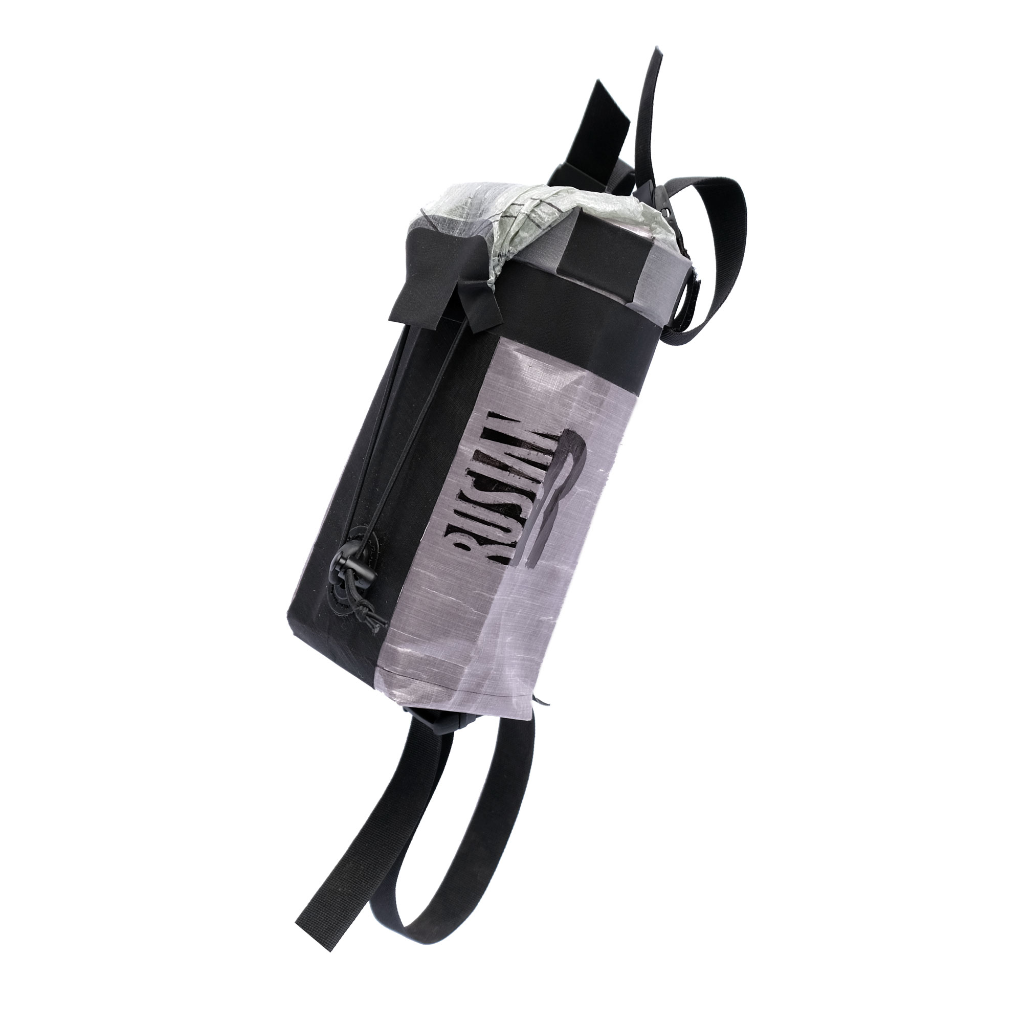 Dyneema - Food bag, snack bag o bottle holder da manubrio cilindrica per bikepacking waterproof ultralight