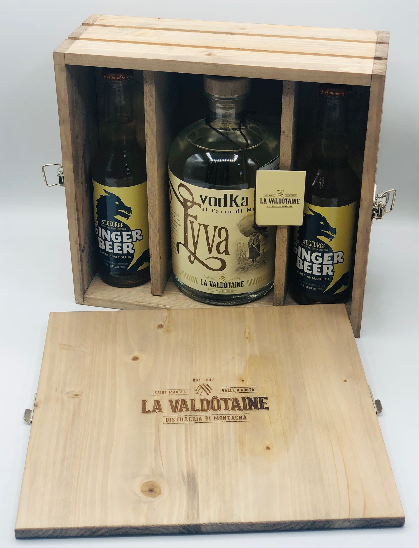 La Valdotaine - Eyva Vodka al Farro di Montagna LT.1 + 2 Ginger Beer 27,5