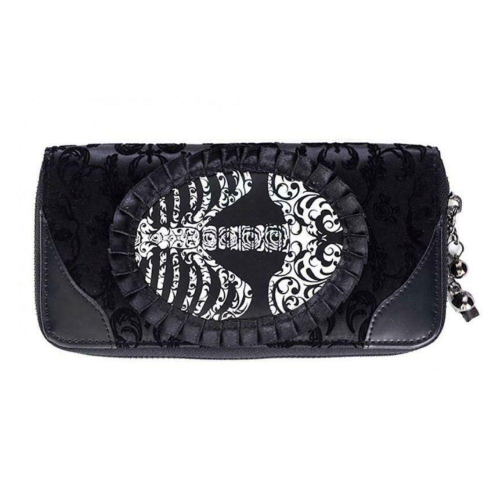 Portafoglio Banned Ivy black ribcage lace wallet