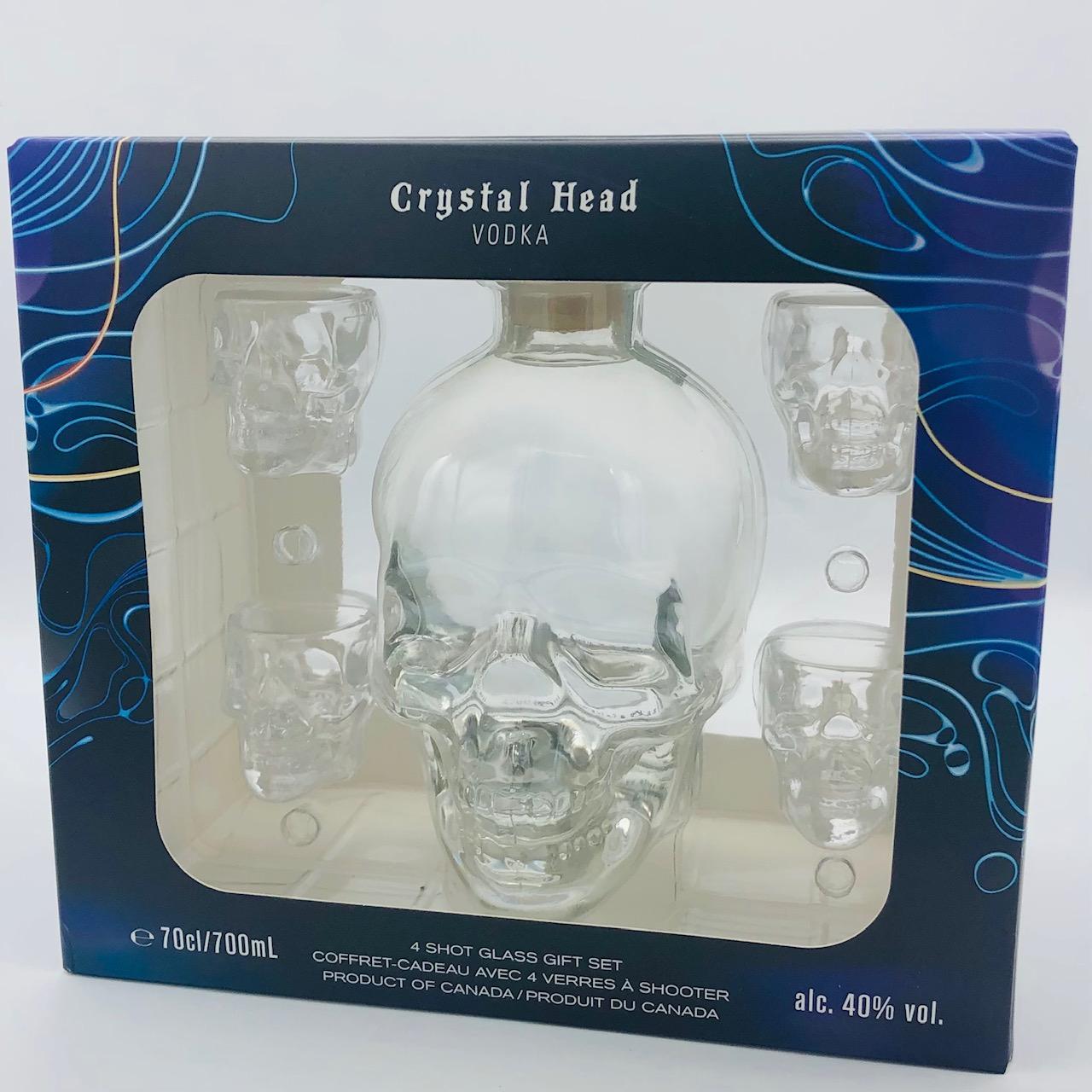 Vodka Crystal Head CL.70 + 4 bicchieri