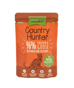 UMIDO GATTO NATURES MENU CON POLLO E OCA 85 GR
