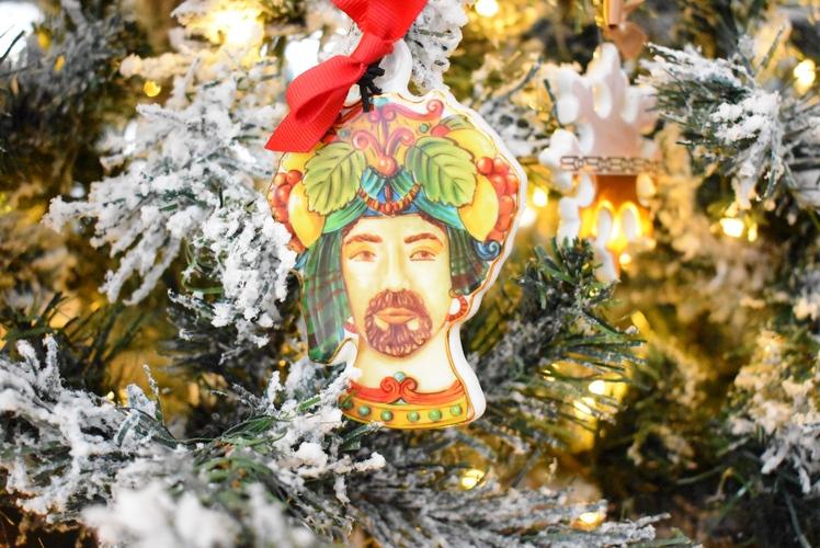 Testa di Moro decorazione albero Baci Milano Le gioie gio1