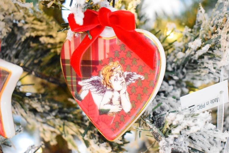 Cuore decorazione albero Baci Milano Tartan