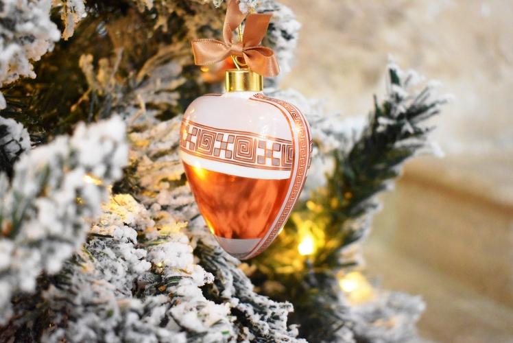 Cuore bombato decorazione albero Baci Milano Copper