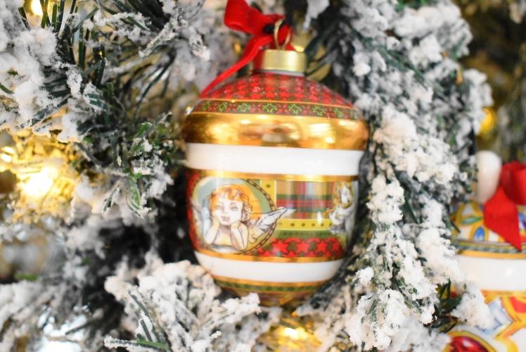 Ghianda decorazione albero Baci Milano Tartan