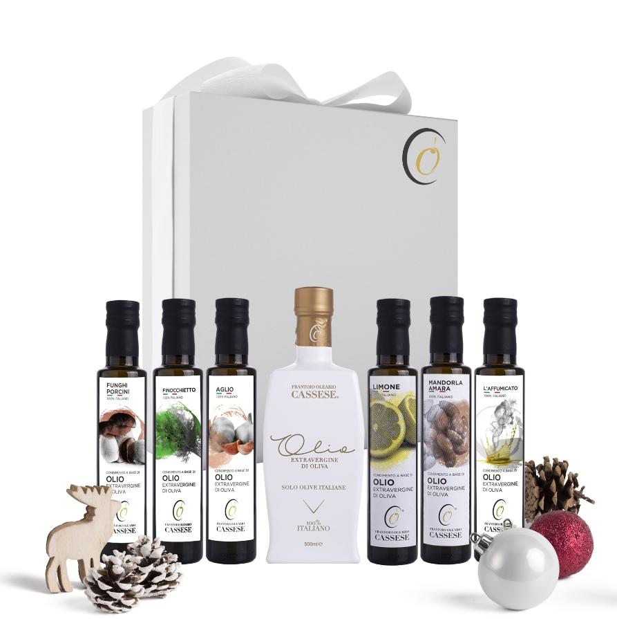 Confezione regalo olio extravergine di Oliva assortiti 100% Italiano - Frantoio oleario Cassese