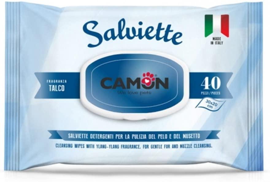 CAMON SALVIETTE DETERGENTI IMBEVUTE 40PZ. TALCO