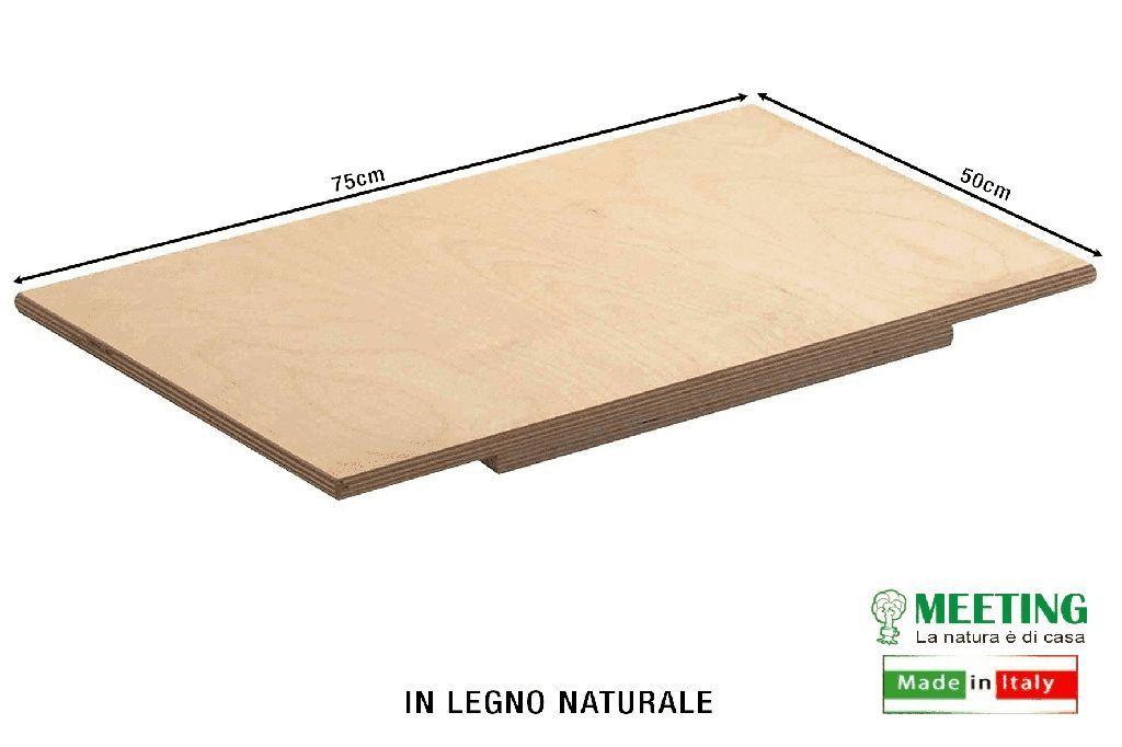 Spianatoia In Legno Chiaro 75x50 cm