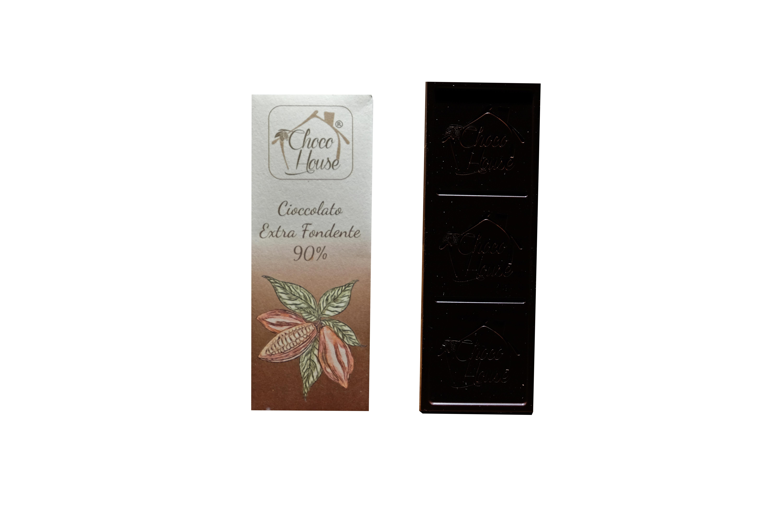 Cioccolato Fondente 90% 50 gr - 10 Pz