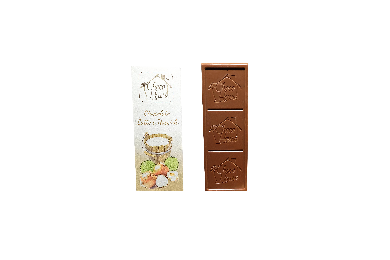 Cioccolato Latte con Nocciole  50 gr - 10 Pz