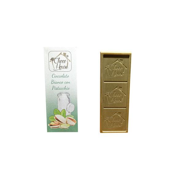 Cioccolato Bianco con Pistacchio 50 gr - 10 Pz