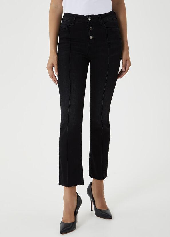 LIU-JO JEANS UF0084D4370 Jeans cropped a vita alta