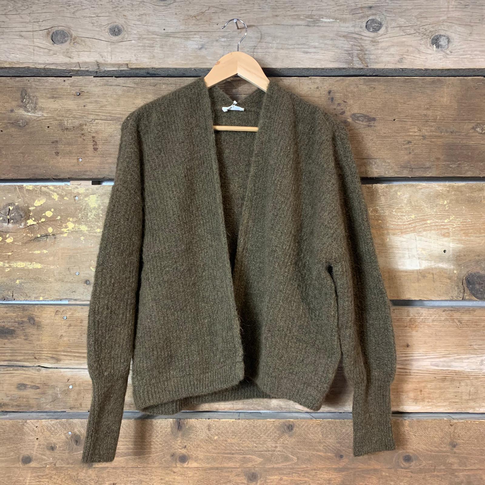 Maglione American Vintage East Aperto Verde Militare