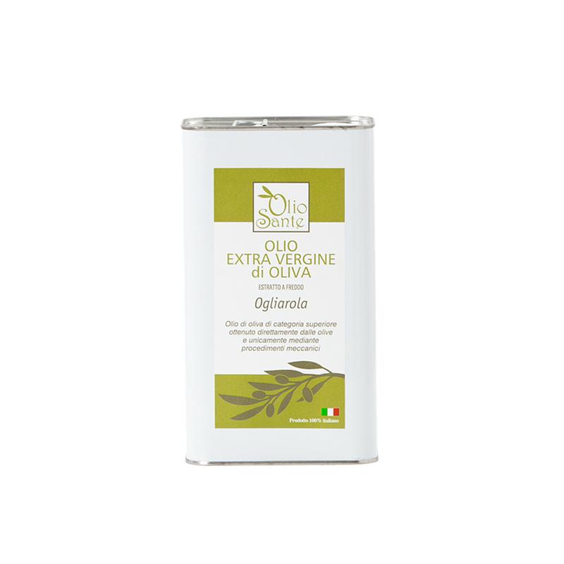 Olio EVO Ogliarola 1L 2020/21 - Olio extravergine di oliva Pugliese cultivar Ogliarola in Latta da 1 Litro - Terre di Ostuni-2