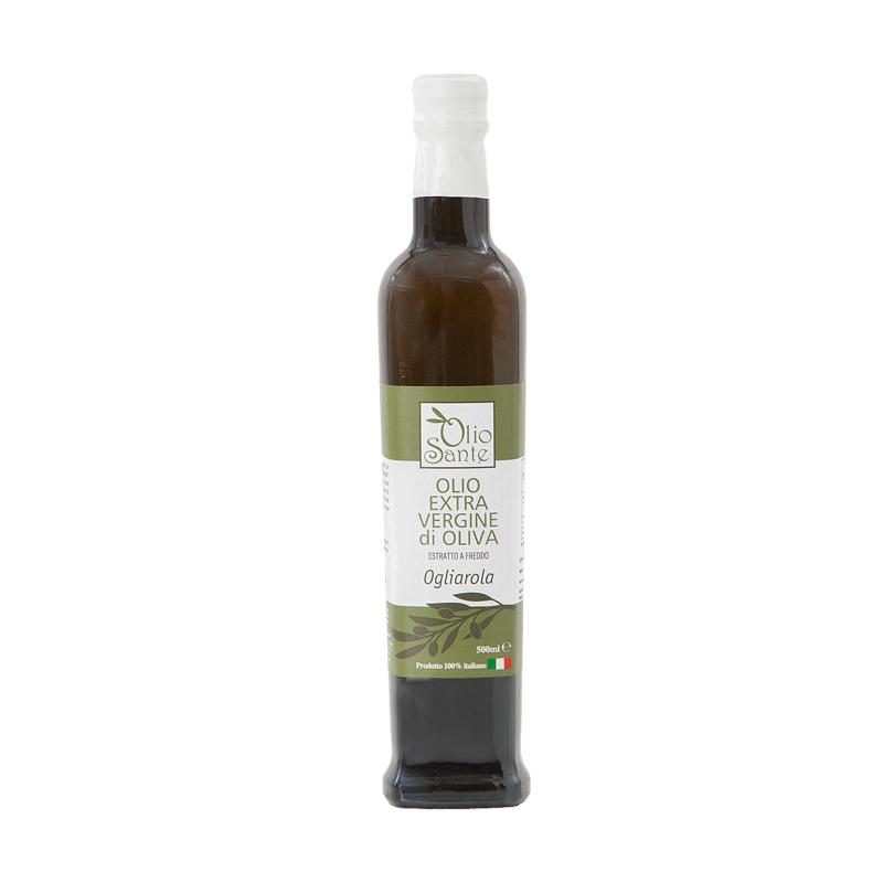 Olio Evo Ogliarola 500ml 2020/21 - Olio extravergine di oliva Italiano cultivar Ogliarola Sante in Bottiglia da 500 ml -