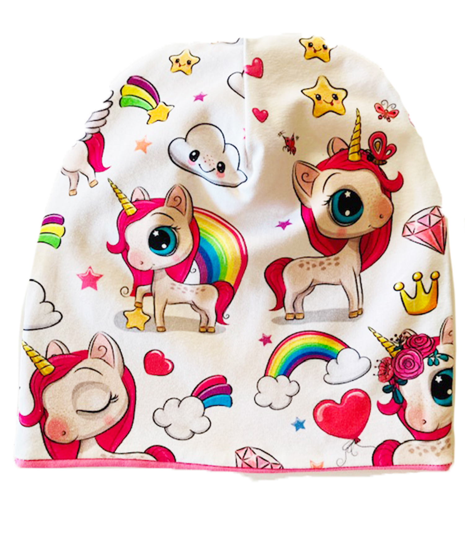 Unicorni e stelle - cuffia double face in cotone