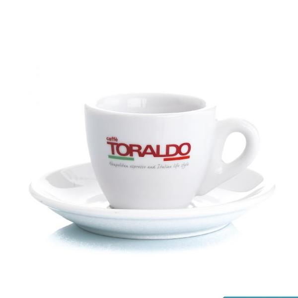 Set 6 tazze con piattini in ceramica Toraldo