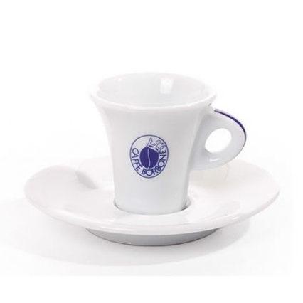 Set 6 tazze con piattini in ceramica Borbone