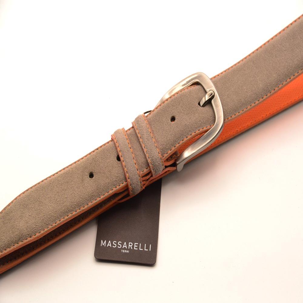 F. Massarelli -Terni- Cintura Uomo Camoscio/Grigio C9011