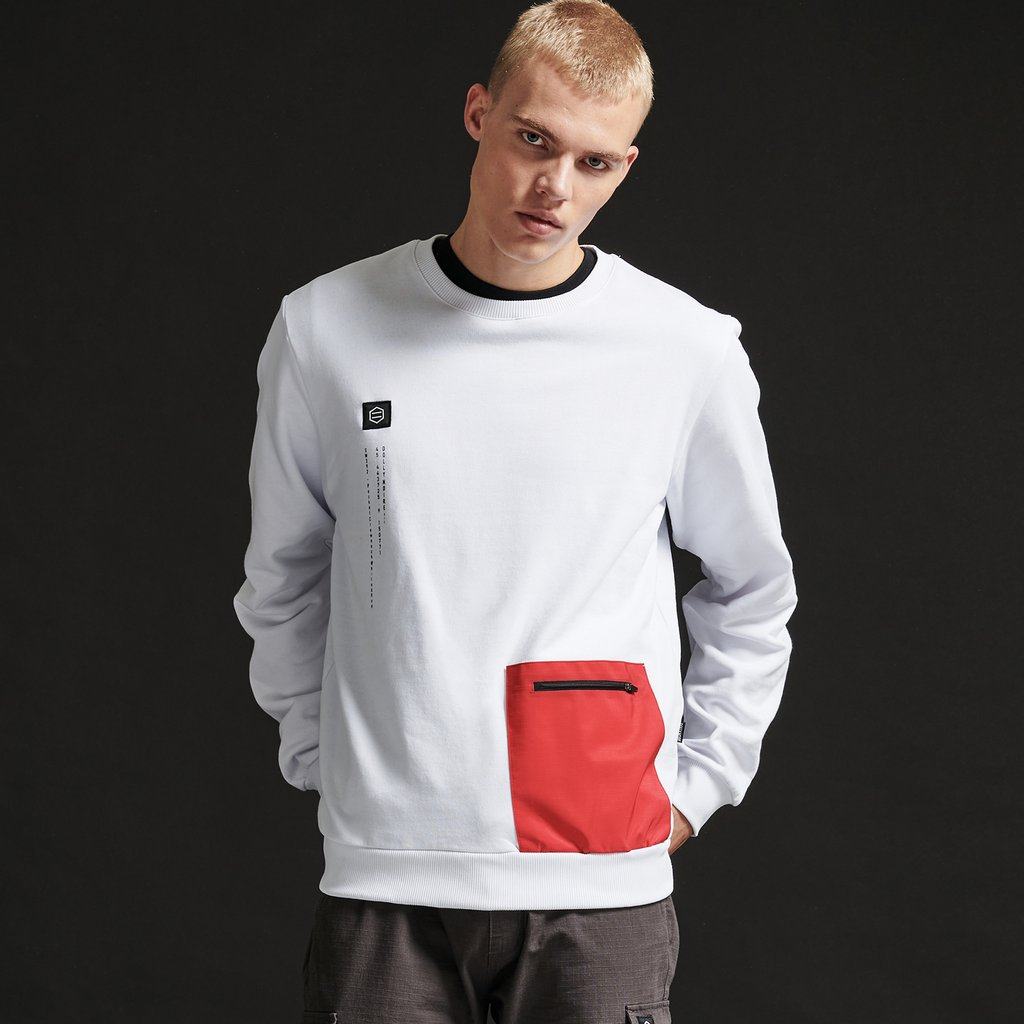 Felpa Dolly Noire Crewneck White & Red