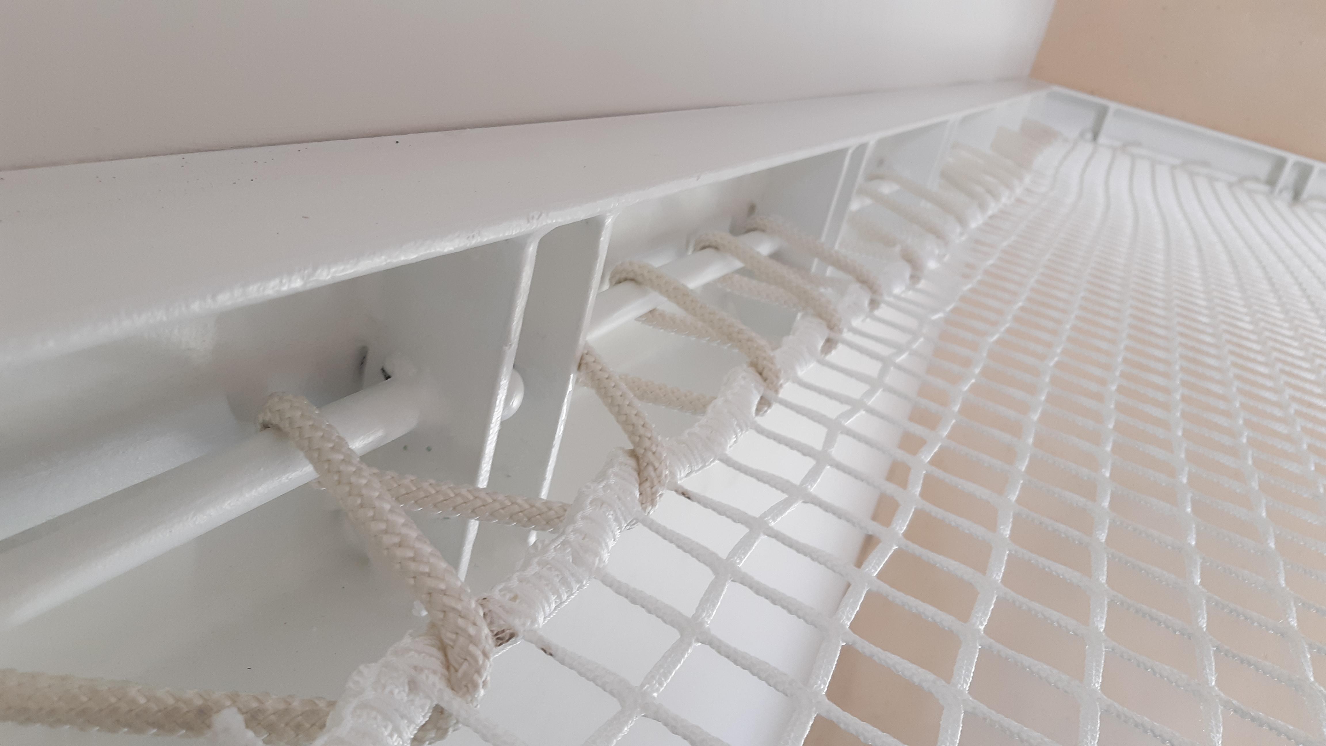 Bordatura di rinforzo perimetrale per rete soppalchi