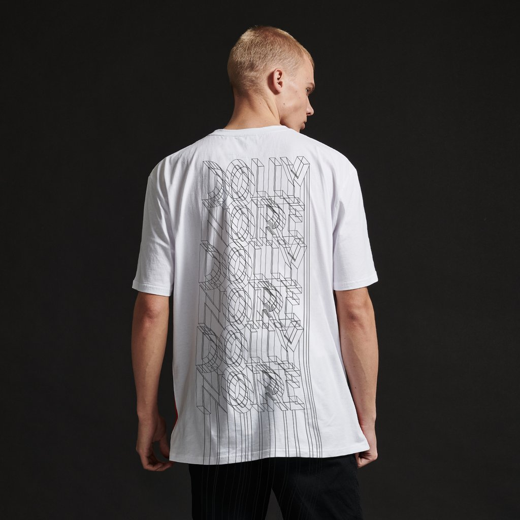 T-Shirt Dolly Noire Wireframe White