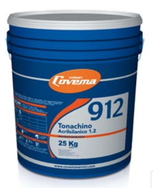 Covema tonachino s.912 acrilsilossanico 1.2 kg25 bianco