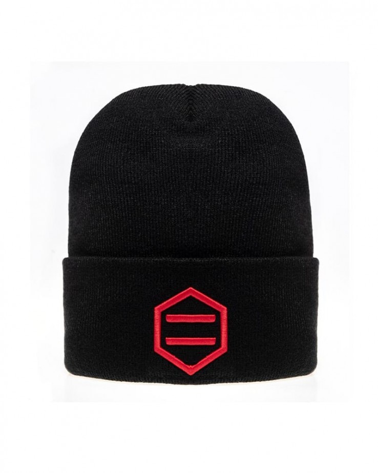 Cappello Dolly Noire Black & Red Beanie