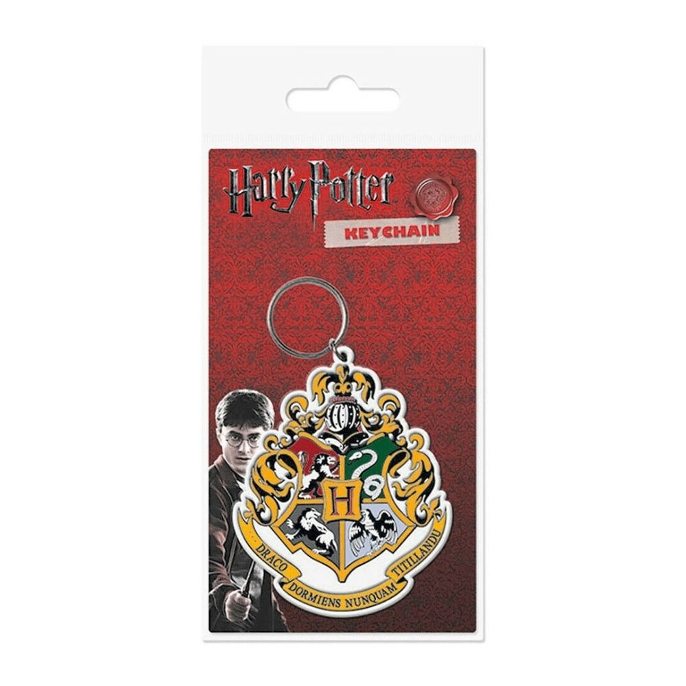 Harry Potter Hogwarts Crest portachiavi in gomma
