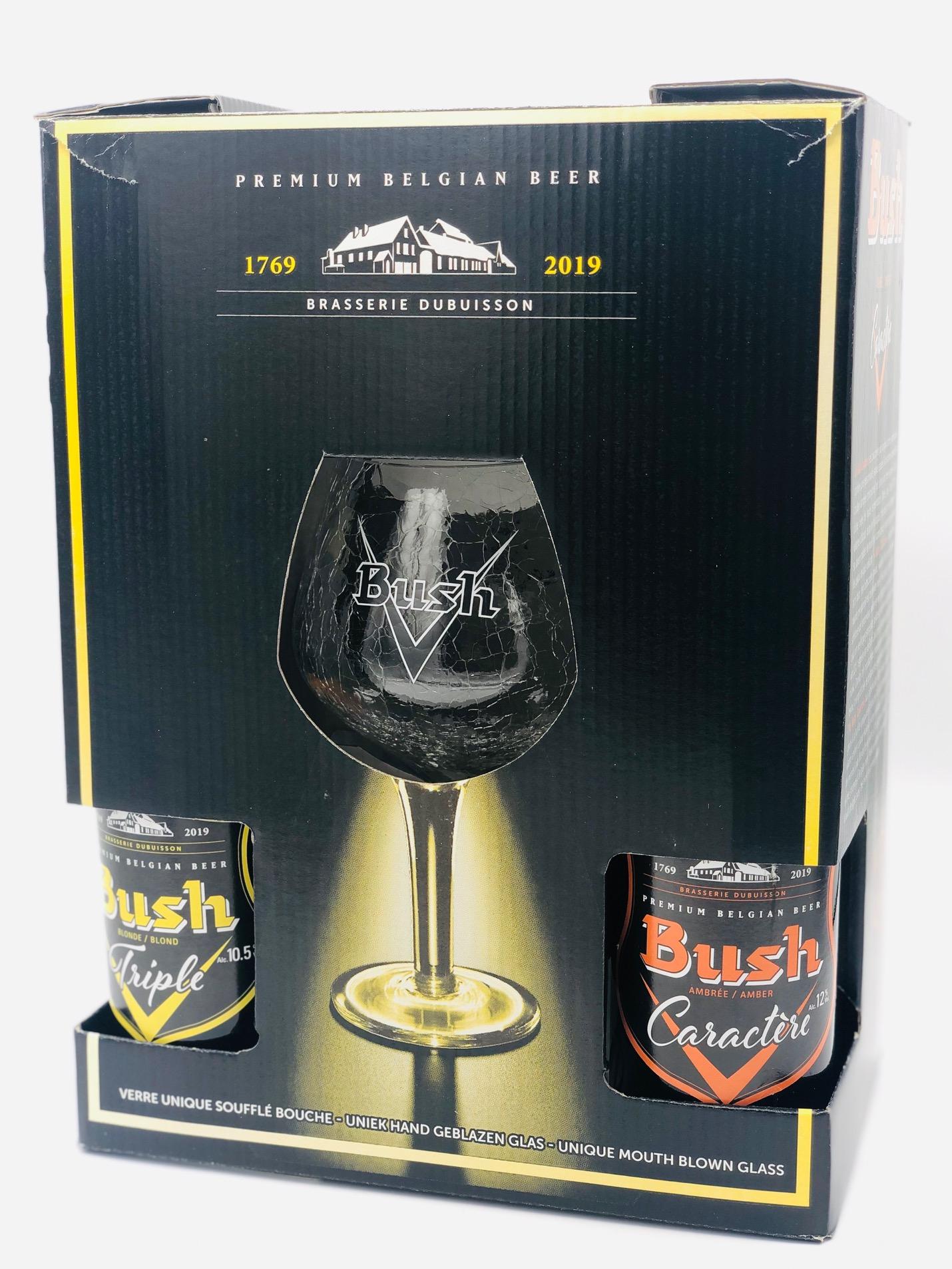 Birra Bush - 2 Triple CL.33 + 2 Caractére CL.33 + 1 Bicchiere