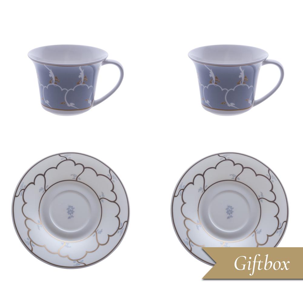 Set tè 4 pezzi in Giftbox GCV | Feston e Cadena Azzurro