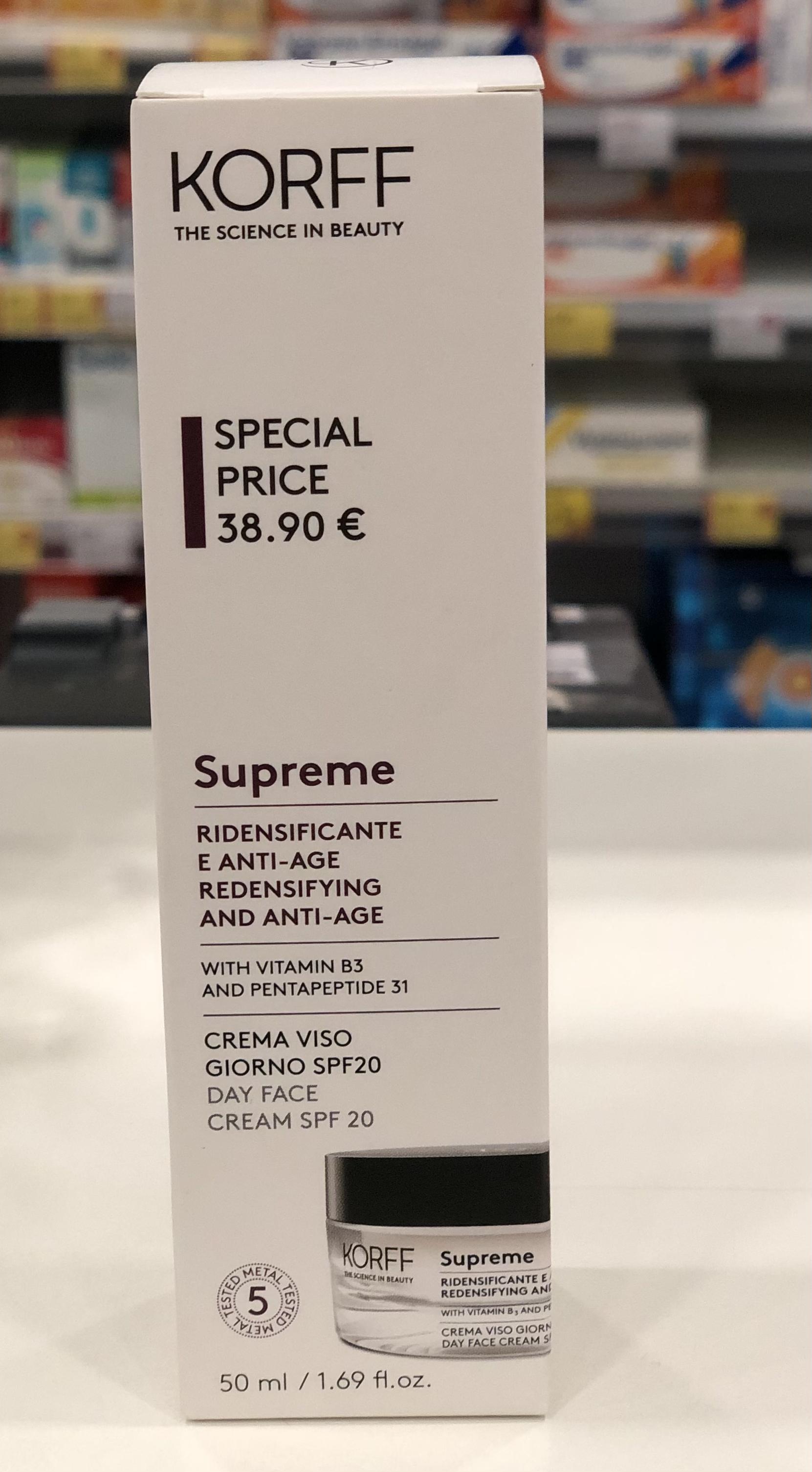 Korff supreme crema viso SPF20