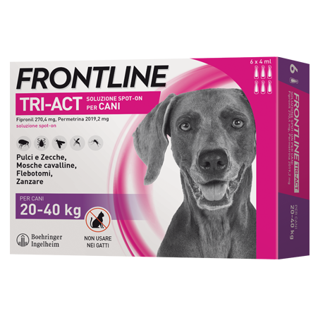 FRONTLINE TRI-ACT SPOT-ON 20-40kg    3 x 4ml
