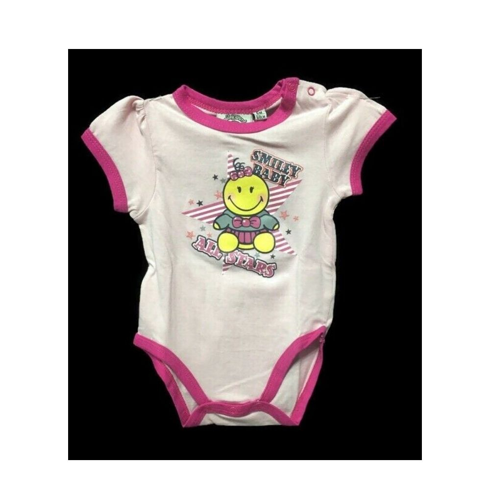 Body 6 mesi neonata Smiley Baby manica corta